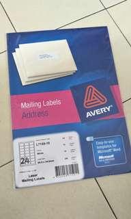 Sticker Mailing Label Address