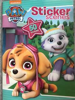 Paw patrol sticker scene activity book