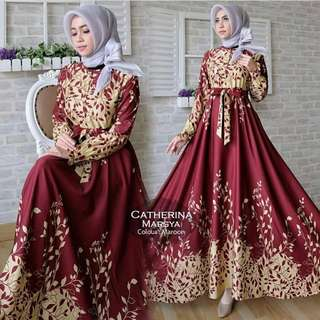 Maxi Dress Gamis Casual Marsya Maroon