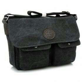 Dxyizu Tas Selempang Canvas - Black