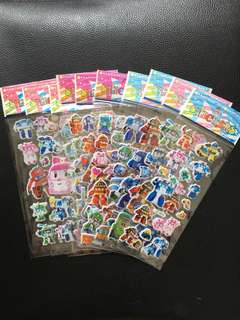 (Bundle of 10 sheets)Poli stickers
