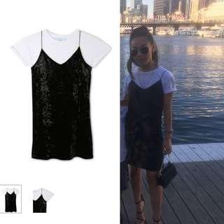 Velvet Slip Dress + Top