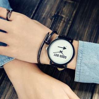 Korea Style Eco Leather Man or Women Watch - GBMY (1pcs)