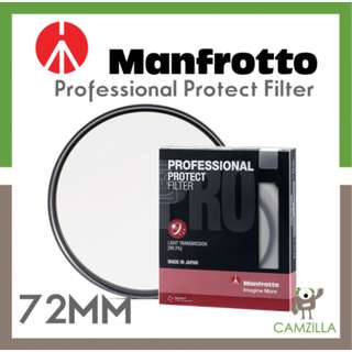 Manfrotto Professional Protect Filter 72mm (Malaysia Warranty)