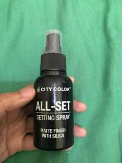 All set matte finish setting spray