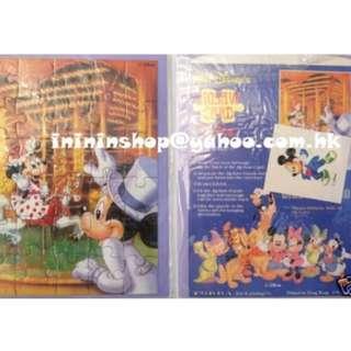 全場獨家 購自日本 限量款式 米奇老鼠 美妮老鼠 Mickey Mouse 原裝日本 迪士尼砌圖設計禮品卡 Gift Card (連紫色信封) 日本迪士尼已停售多年