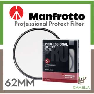 Manfrotto Professional Protect Filter 62mm (Malaysia Warranty)