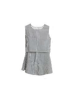 🚚 藍白條紋洋裝(分開式)