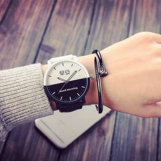 Korea Style Eco Leather Man or Women Watch - GMGN (1pcs)