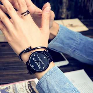 Korea Style Eco Leather Man or Women Watch - IDFY (1pcs)