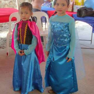 FROZEN ELSA and ANNA COSTUME SET