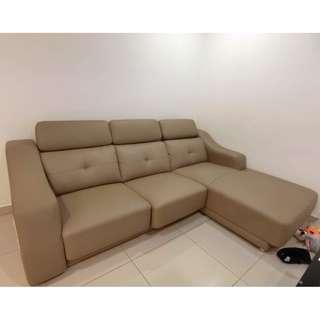 L Shape full leather sofa