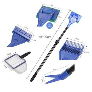 5 in 1 Aquarium Cleaning Kit with extendable handle