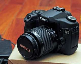 Canon 40D with two canon lenses