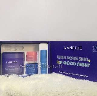[ONHAND] LANEIGE GOODNIGHT SKIN CARE SET