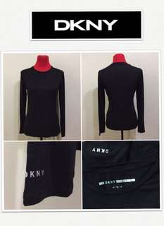 DKNY Sport Logo Black L/S Top