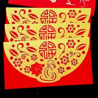3pcs 2016 CME Group Red Packet *laser diecut