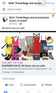 Bags on sale on May 1, 2018