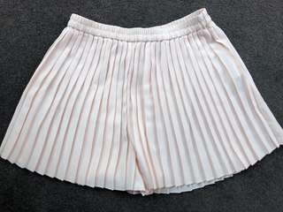 Seed Heritage pale pink high waisted pleated shorts