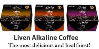 LIVEN ALKALINE COFFEE (healthiest and delicious)