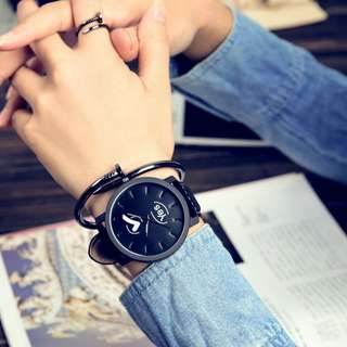 Korea Style Eco Leather Man or Women Watch - Yes&No (1pcs)