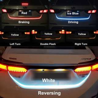 LED Strip Trunk Tail Brake Turn Signal Light Flow Type