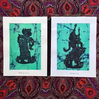 Wayang kulit batik prints