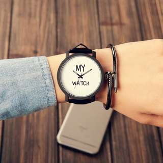 Korea Style Eco Leather Man or Women Watch - My Watch (1pcs)