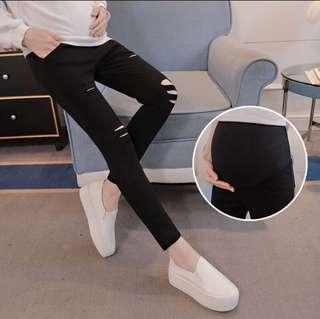 Fashion Maternity stretchable pants black