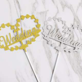 Wedding Glitters Cake Topper