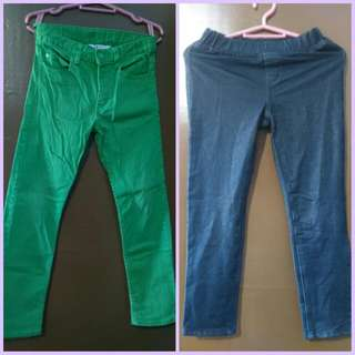 2pcs Branded Girls Jeans For 8-10 Years Old (PRELOVED)