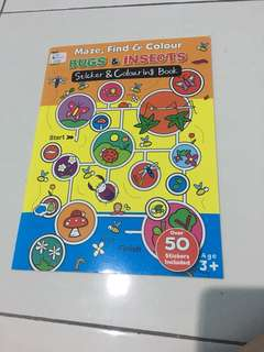 Sticker n coloring book