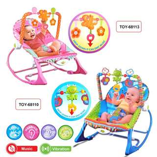 Baby Rocker Bouncer Born Toddler Music Chair wt Safety Belt