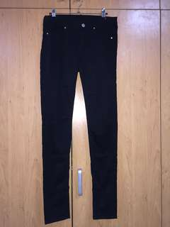 H&M Black Velvet Jeans