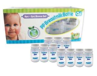 Breast milk storage bottles 10pcs (Bumble Bee)