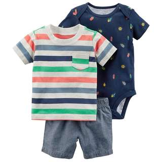 Carter's 3 in 1 Colorful Stripes Set