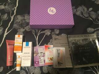 Box of Sample Skin Products