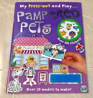 "playbook ""My press-out and play...pampered pets """