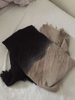 aritzia ombre blanket scarf
