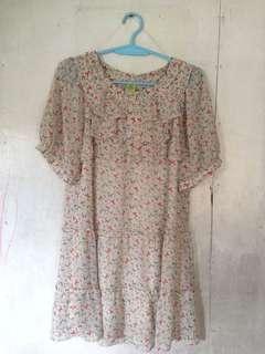 White lace little dress
