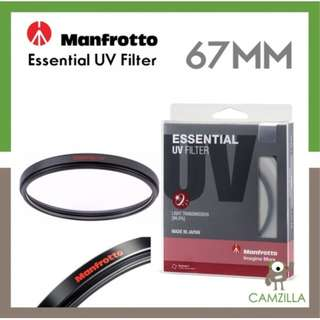 Manfrotto Esselntial uv filter 67mm