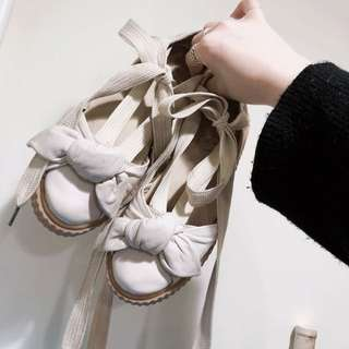 Puma 緞帶芭蕾舞鞋