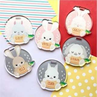 Bunny bag tag - luggage tag