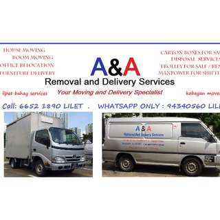 VAN / LORRY FOR RENT FOR HOUSE MOVING / DELIVERY