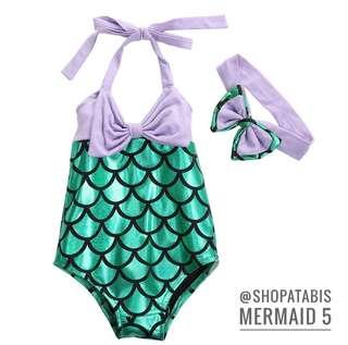 Mermaid Swimsuit/ Swimwear for Little Girls