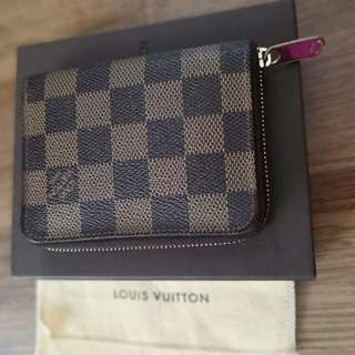 Preloved Louis vuitton Zippy coin wallet damier ebene