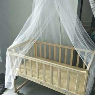 Baby Cot beserta kelambu...tanpa tilam...