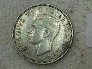 UK KGVi 1941, 2shilling. Silver
