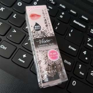 VISEECRYSTAL DUO LIPSTICK水晶透潤唇膏PK866