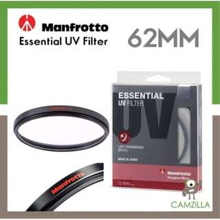 Manfrotto Esselntial uv filter 62mm